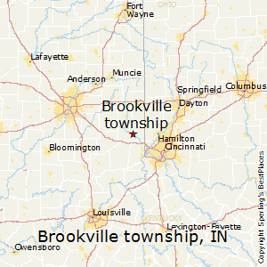 Brookville_township,Indiana Map