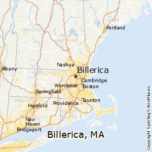 Billerica,Massachusetts Map