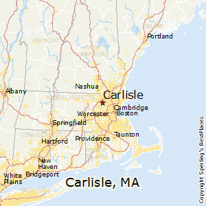 Carlisle,Massachusetts Map