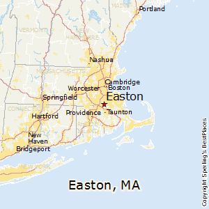 Easton,Massachusetts Map