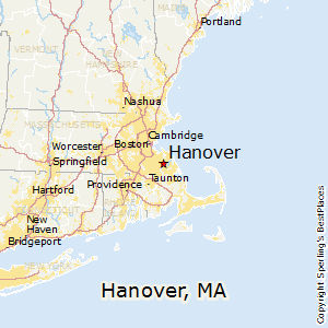 Hanover,Massachusetts Map