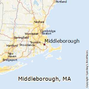 Middleborough,Massachusetts Map