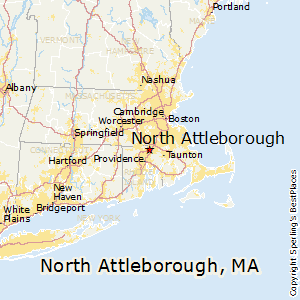 North_Attleborough,Massachusetts Map