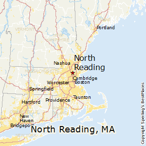 North_Reading,Massachusetts Map