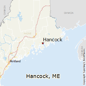 Hancock,Maine Map