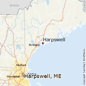 Harpswell,Maine Map