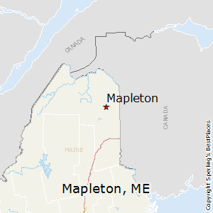 Mapleton,Maine Map