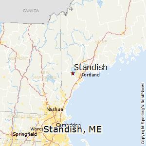 Comparison Standish Maine Norway Maine - Norway maine map