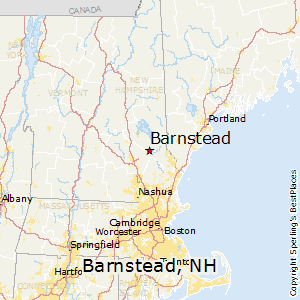 Barnstead,New Hampshire Map