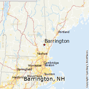 Barrington,New Hampshire Map