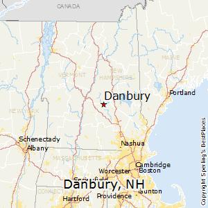 Danbury,New Hampshire Map