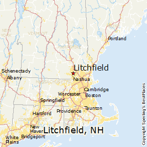 Litchfield,New Hampshire Map