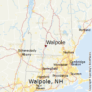 Walpole,New Hampshire Map