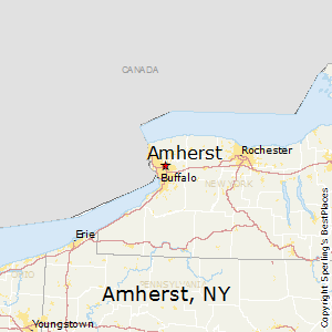 Amherst,New York Map
