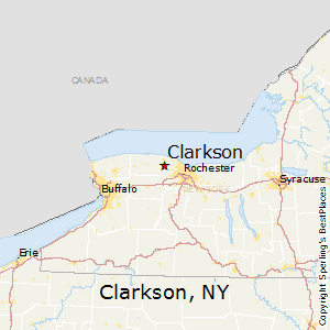 Clarkson,New York Map