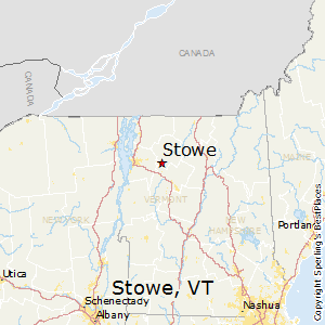Stowe,Vermont Map