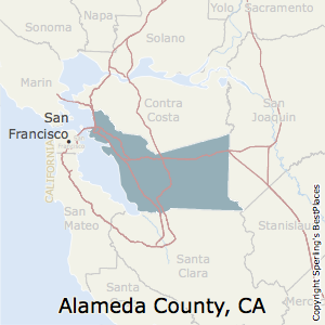 Alameda,California County Map