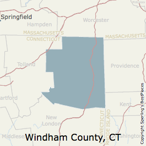 Windham,Connecticut County Map