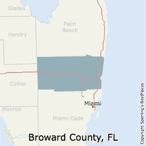 Broward,Florida County Map
