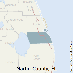 Martin,Florida County Map