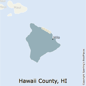 Hawaii,Hawaii County Map