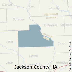 Jackson,Iowa County Map