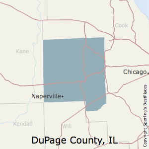 DuPage,Illinois County Map