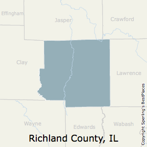 Richland,Illinois County Map