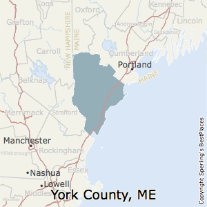 York,Maine County Map