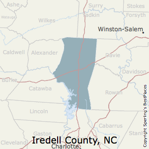 Iredell,North Carolina County Map