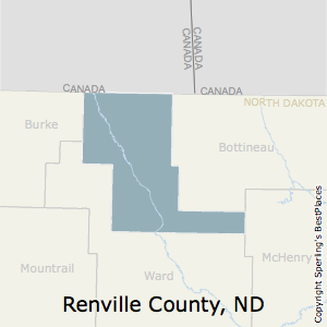 Renville,North Dakota County Map
