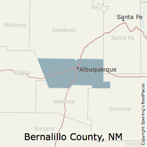 Bernalillo,New Mexico County Map