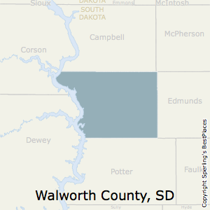 Walworth,South Dakota County Map