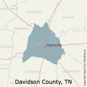 Davidson,Tennessee County Map