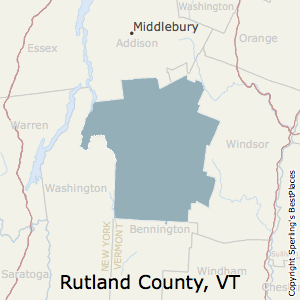 Rutland,Vermont County Map