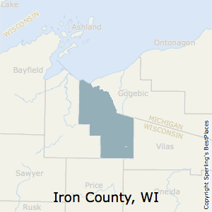 Iron,Wisconsin County Map