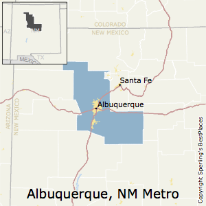 Albuquerque,New Mexico Metro Area Map
