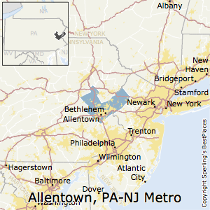 Allentown-Bethlehem-Easton,Pennsylvania Metro Area Map