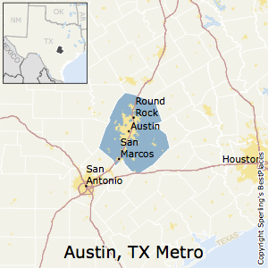 Austin-Round_Rock,Texas Metro Area Map