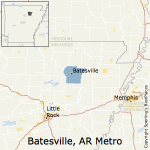 Batesville,Arkansas Metro Area Map