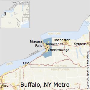 Buffalo-Cheektowaga-Niagara_Falls,New York Metro Area Map