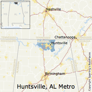 Huntsville,Alabama Metro Area Map