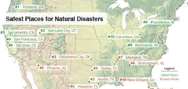 Best Places for Avoiding Natural Disasters