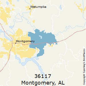 Montgomery,Alabama(36117) Zip Code Map