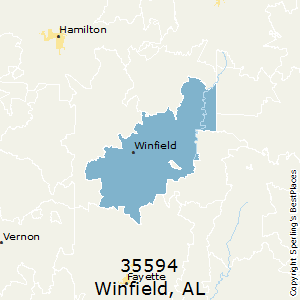 Winfield,Alabama(35594) Zip Code Map