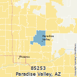 Paradise_Valley,Arizona(85253) Zip Code Map