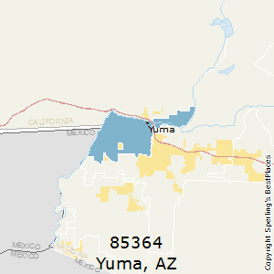 Yuma,Arizona(85364) Zip Code Map