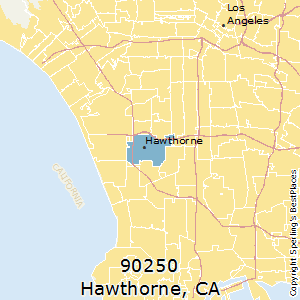 Hawthorne,California(90250) Zip Code Map