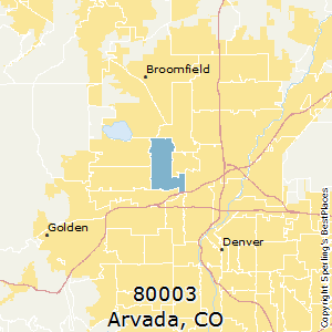 Arvada,Colorado(80003) Zip Code Map