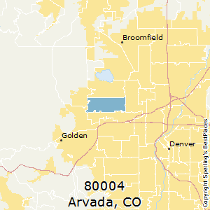 Arvada,Colorado(80004) Zip Code Map